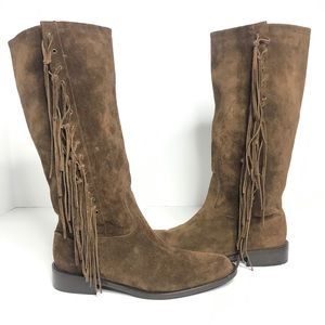 Coach Arianna Suede Fringe Boots